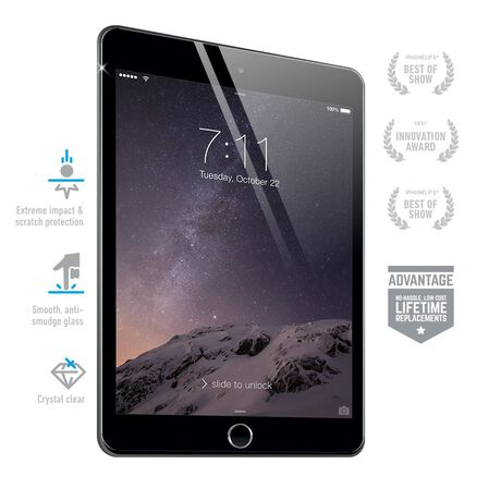 BodyGuardz Pure® Premium Glass Screen Protector for Apple iPad Mini 2/3, , large