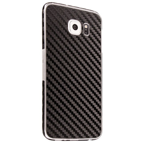 Carbon Fiber armor Back Skin (Black) for Samsung Galaxy S6, , large