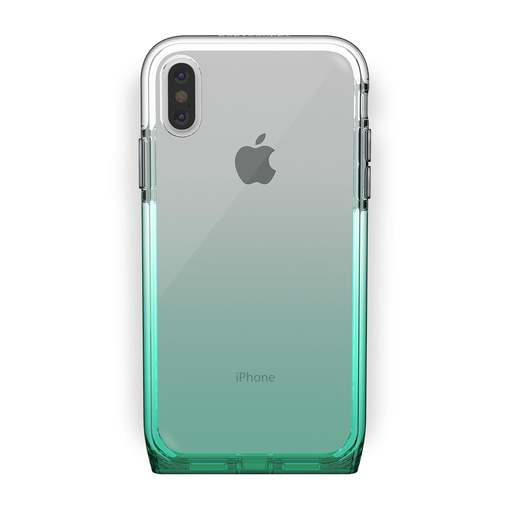 iPhone Xs Max White with Harmony Lucky Clear Case