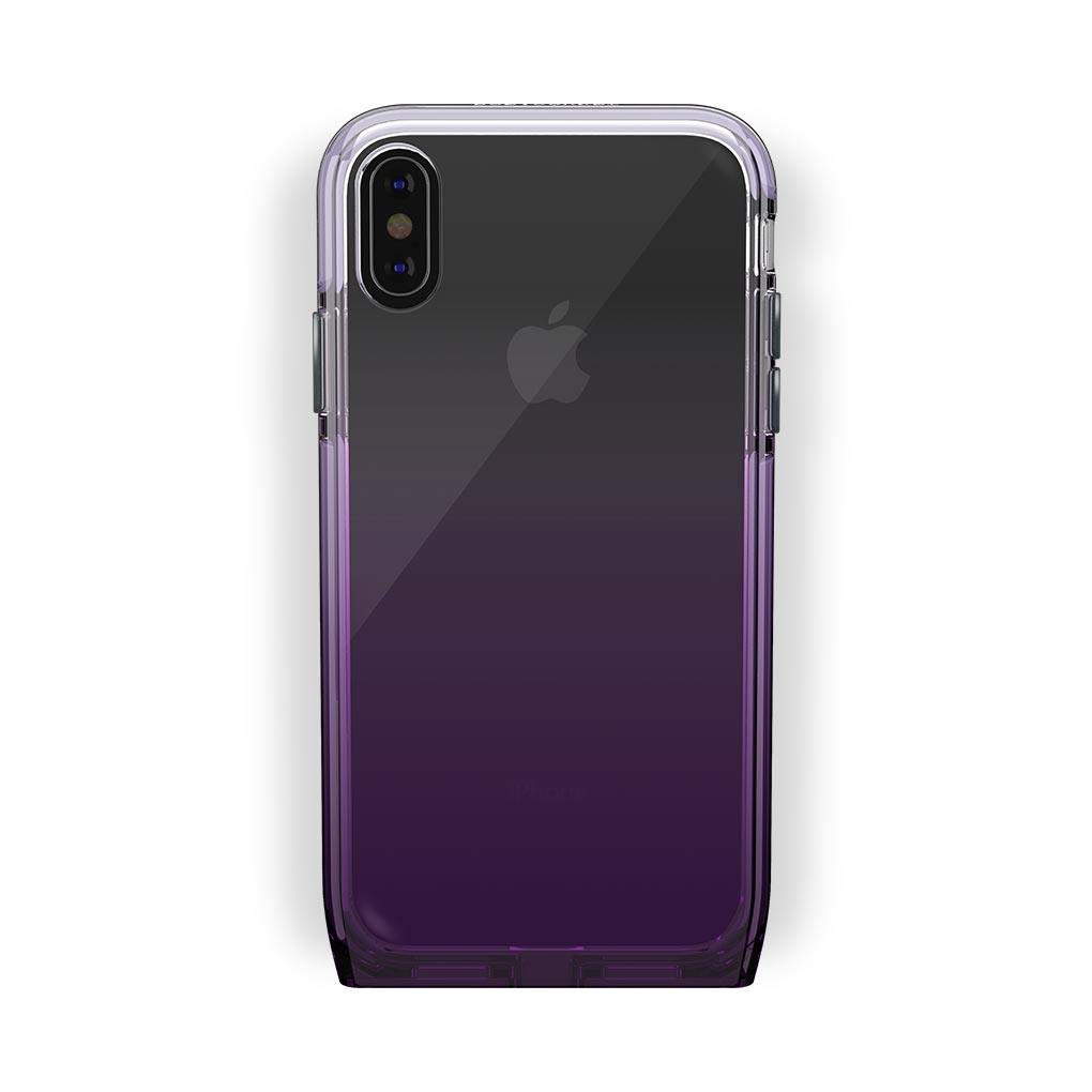 iPhone X/Xs Black with Harmony Amethyst Clear Case