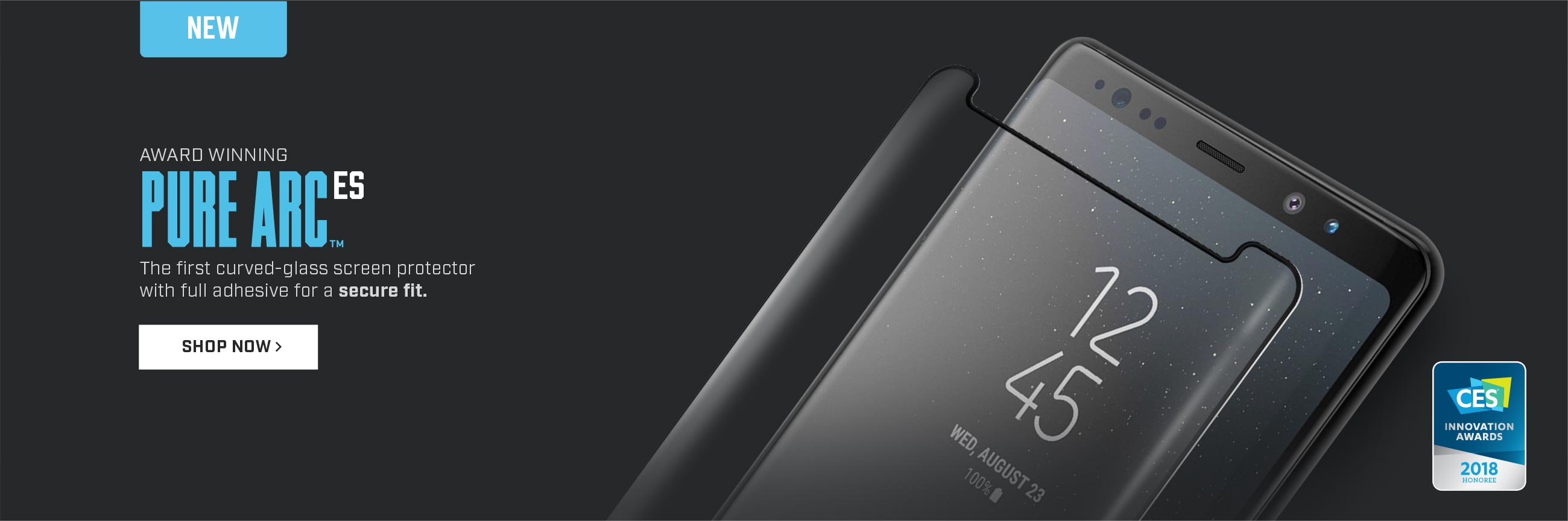The first curved-glass screen protector with full adhesive for a secure fit