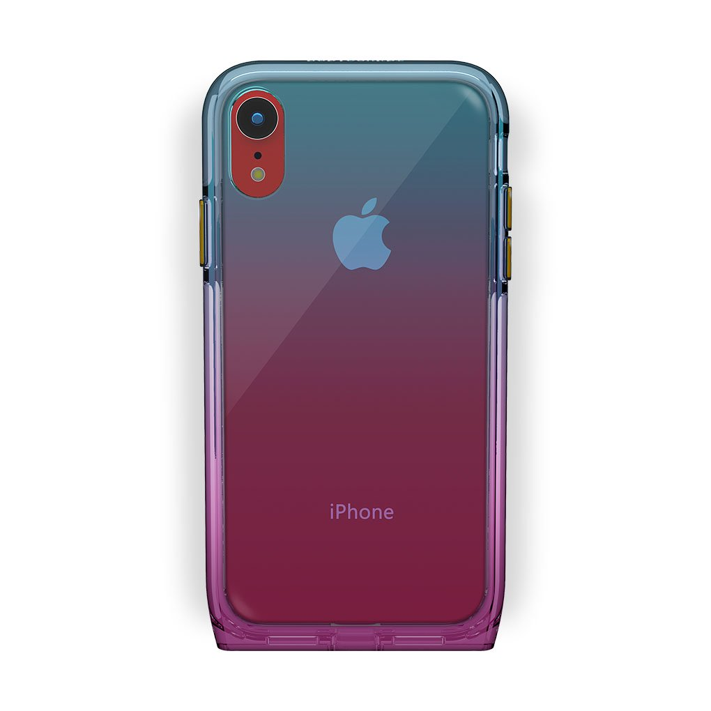 iPhone Xr Red with Harmony Unicorn Clear Case