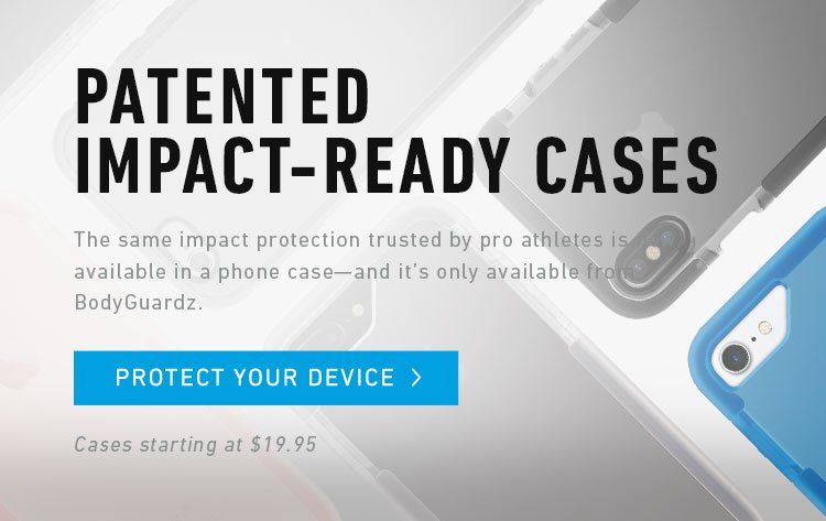 patented impact-ready phone cases with the same protection trusted by pro athletes