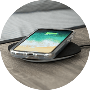Slidvue kickstand case is compatible with wireless charging