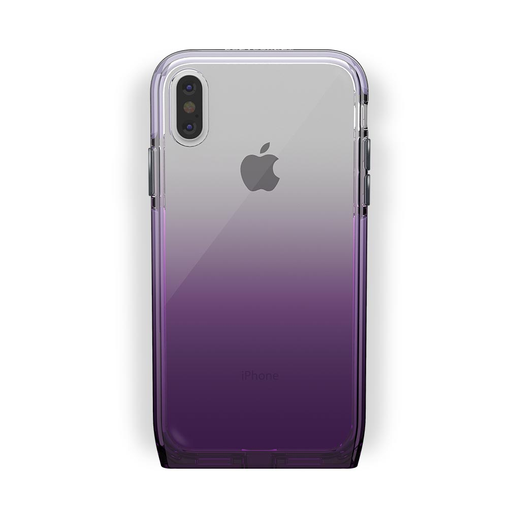 iPhone X/Xs White with Harmony Amethyst Clear Case