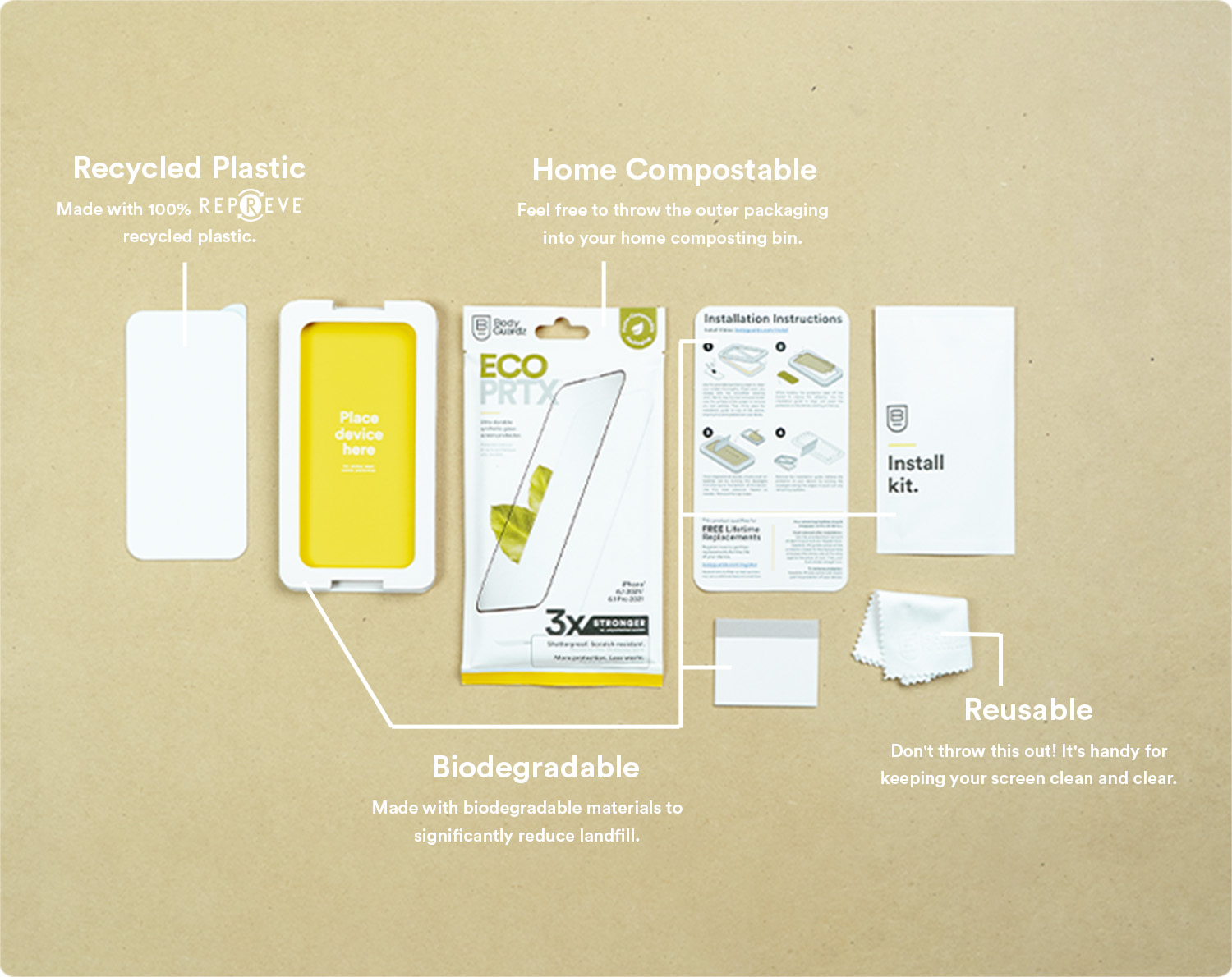 ECO PRTX uses responsible, eco friendly packaging.