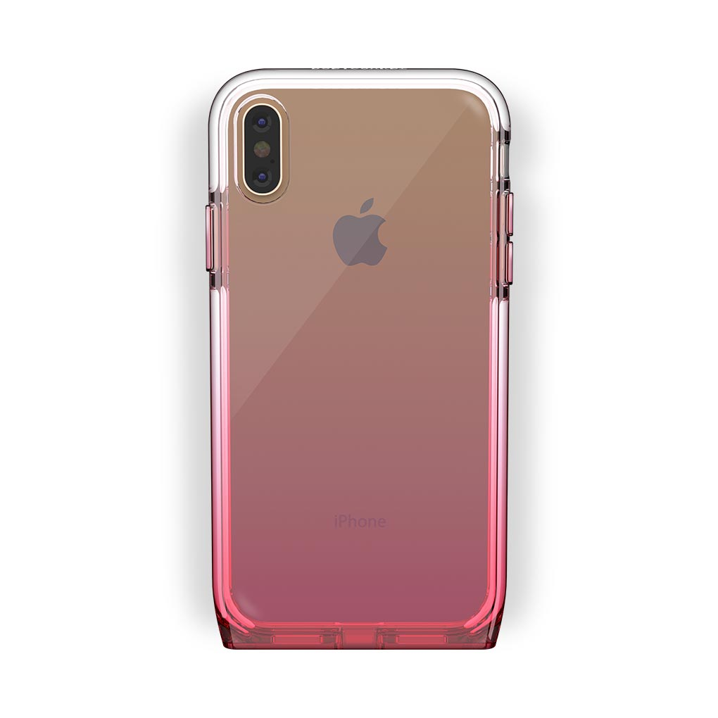 iPhone X/Xs Gold with Harmony Rose Quartz Clear Case