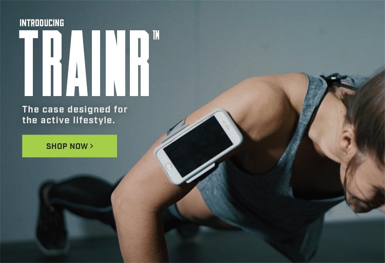 Trainr active lifestyle workout phone case video