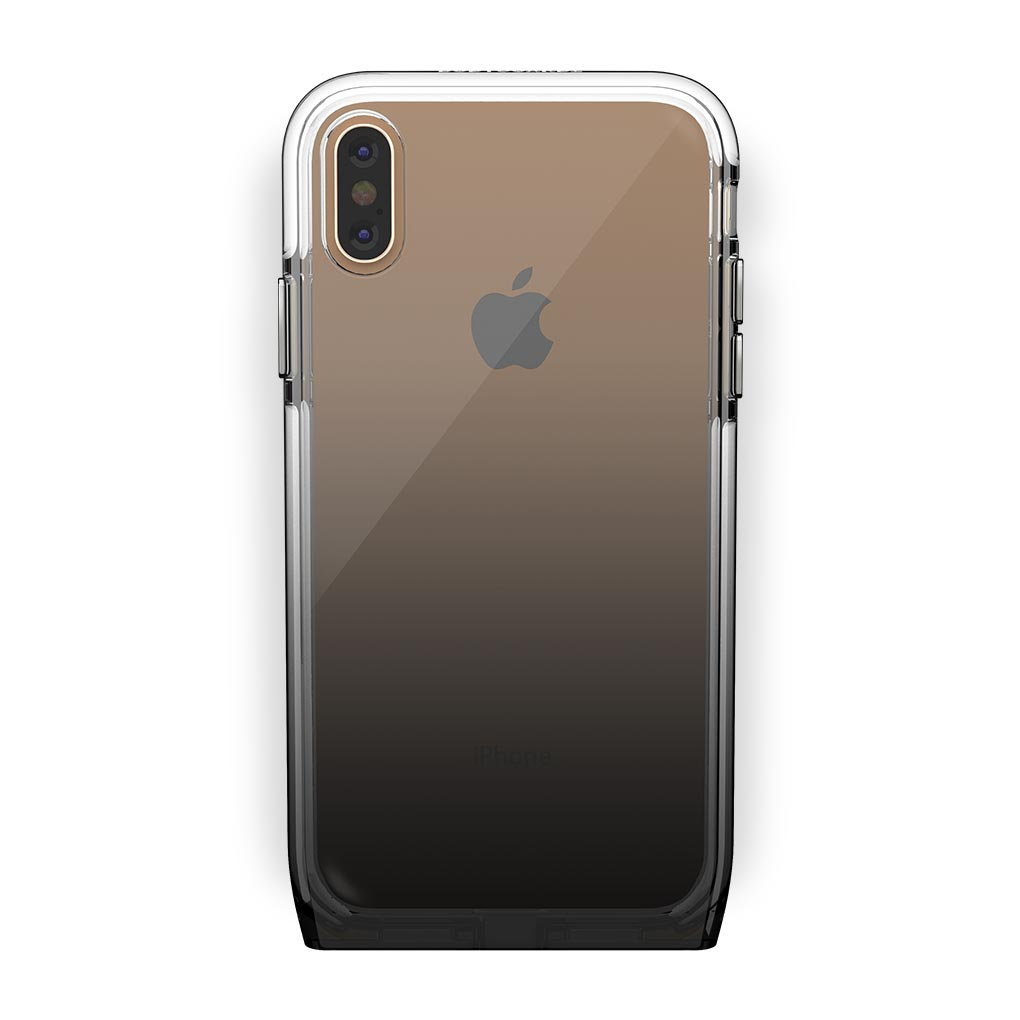 iPhone Xs Max Gold with Harmony Shade Clear Case