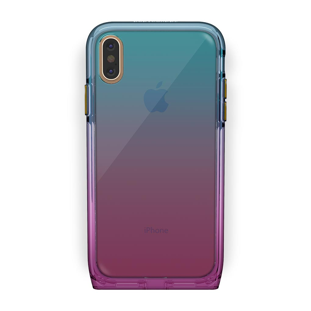 iPhone Xs Max Gold with Harmony Unicorn Clear Case