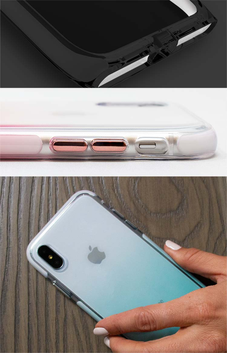 Harmony chic and protective clear case comes in many colors
