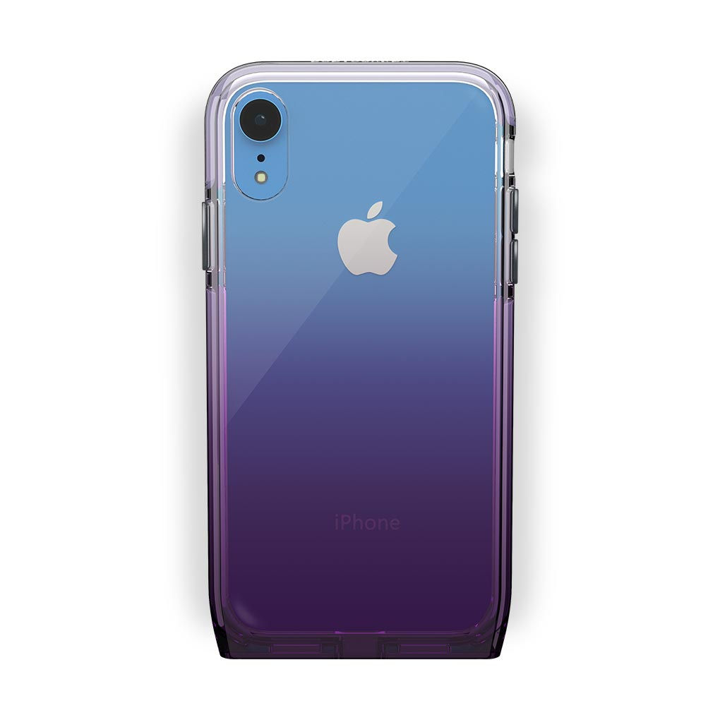iPhone Xr Blue with Harmony Amethyst Clear Case