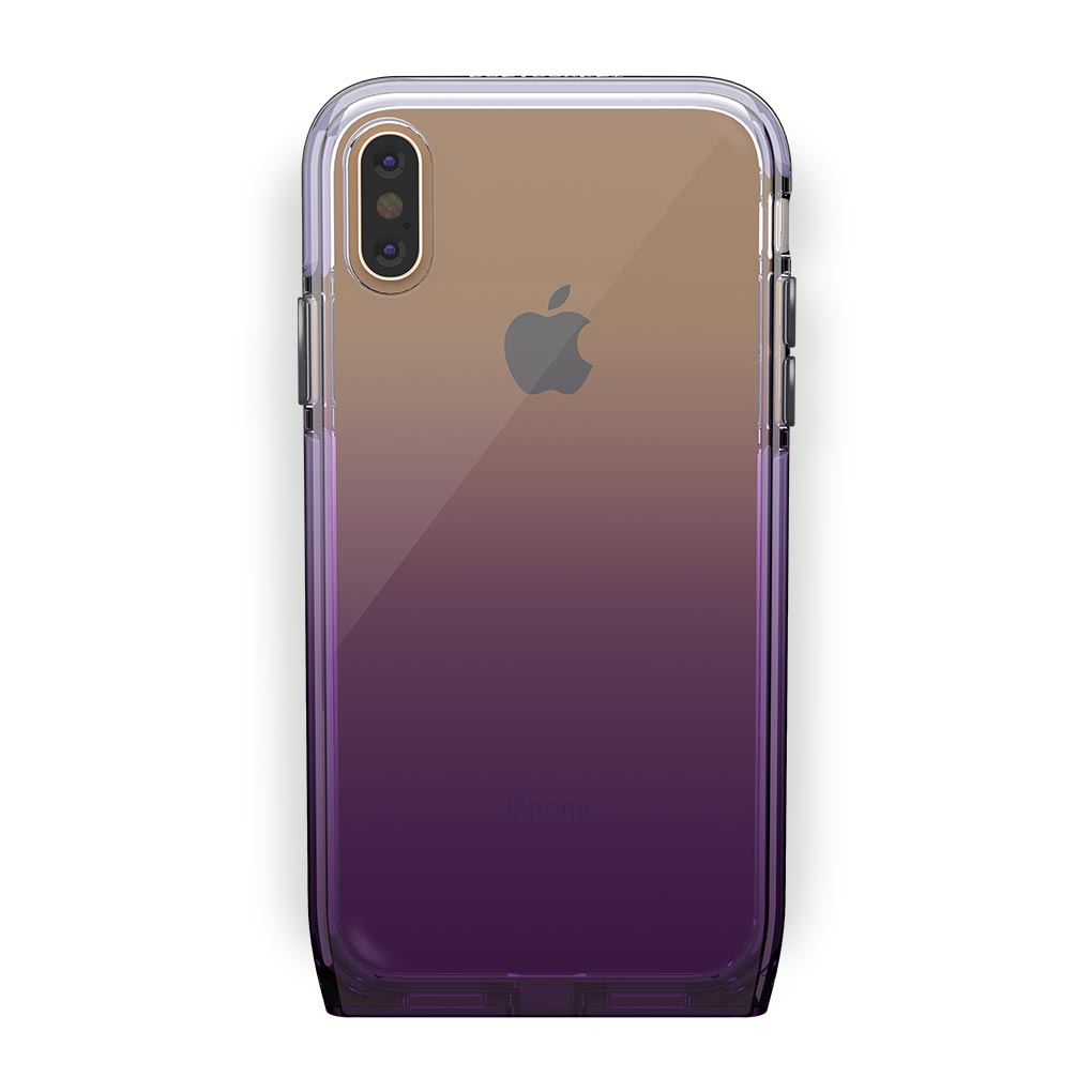 iPhone Xs Max Gold with Harmony Amethyst Clear Case