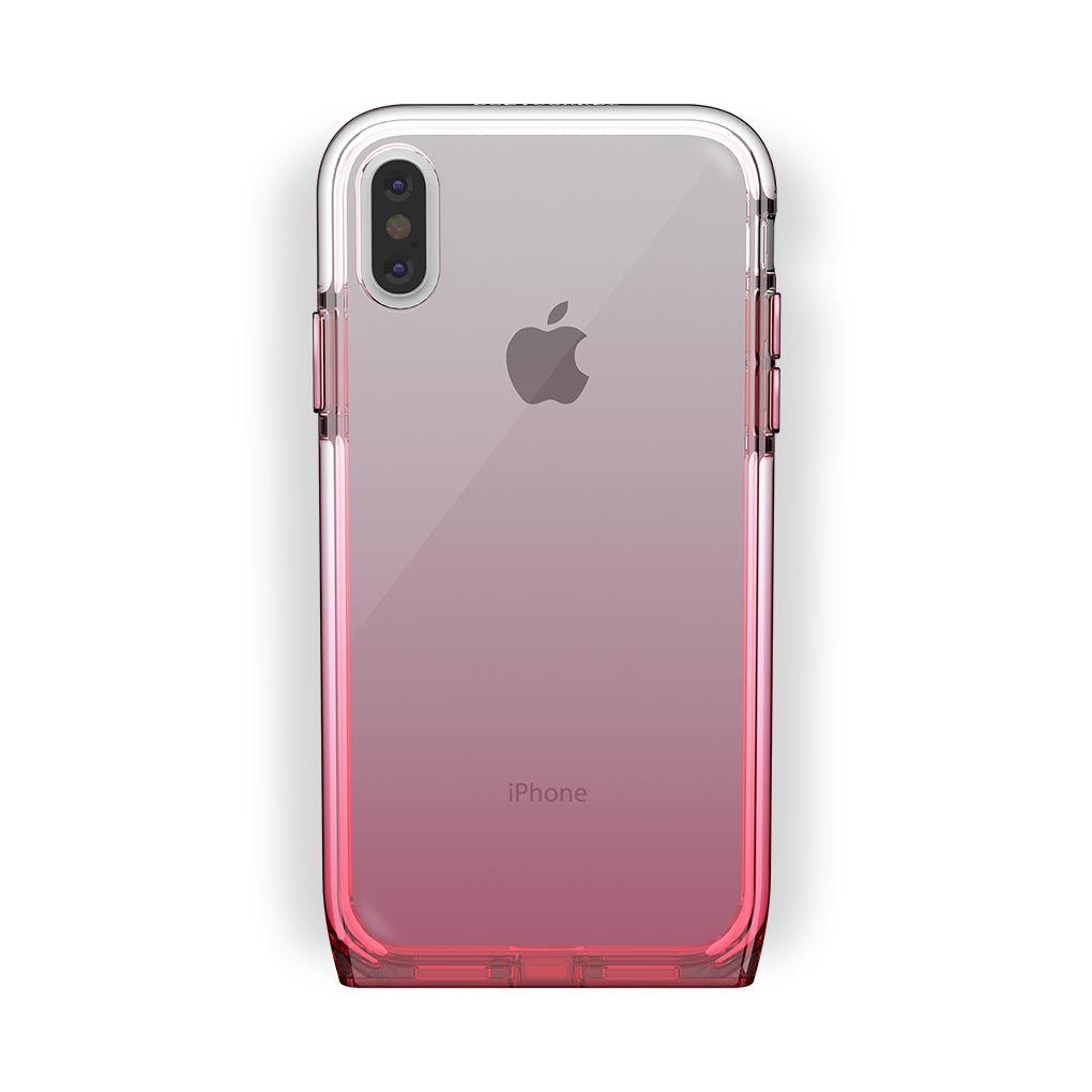 iPhone X/Xs White with Harmony Rose Quartz Clear Case