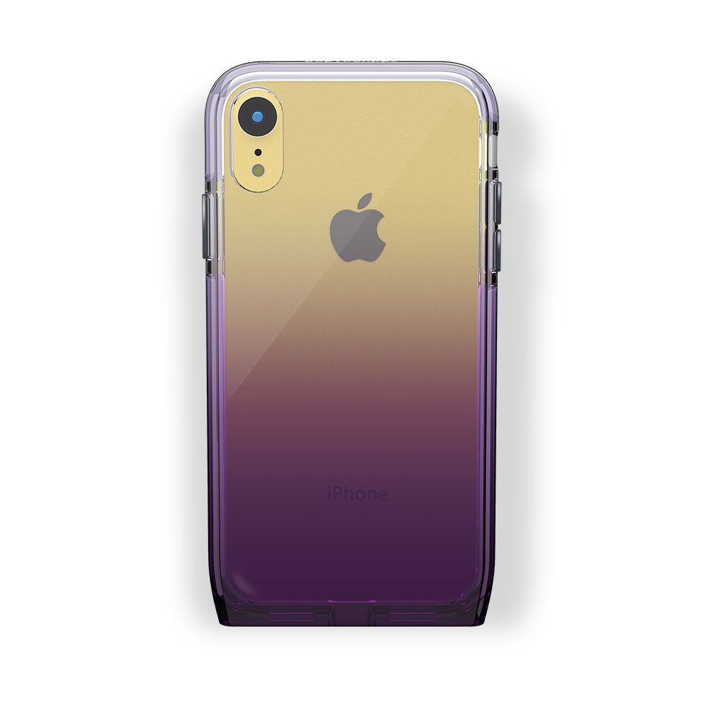 iPhone Xr Yellow with Harmony Amethyst Clear Case