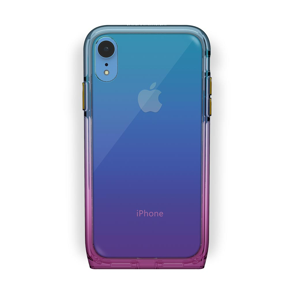 iPhone Xr Blue with Harmony Unicorn Clear Case