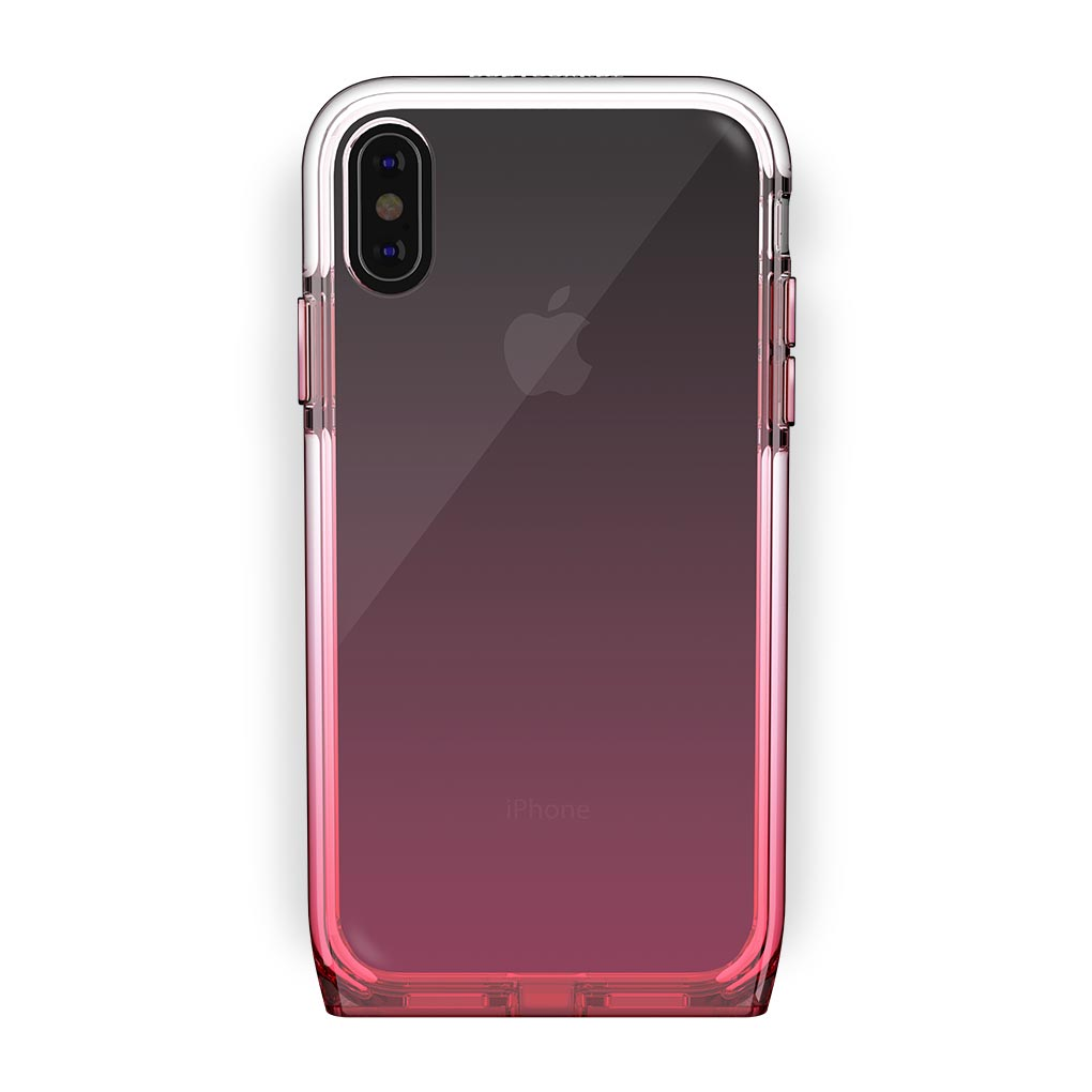 iPhone Xs Max Black with Harmony Rose Quartz Clear Case