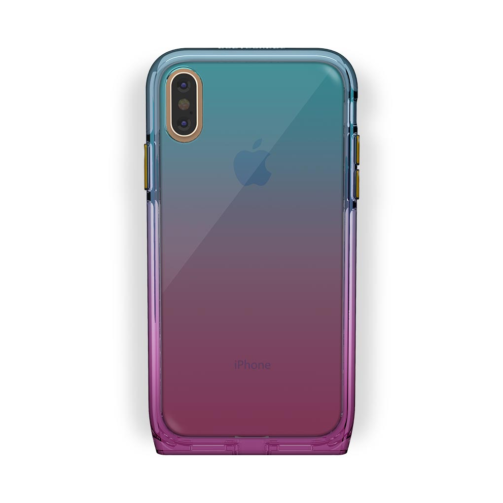 iPhone X/Xs Gold with Harmony Unicorn Clear Case