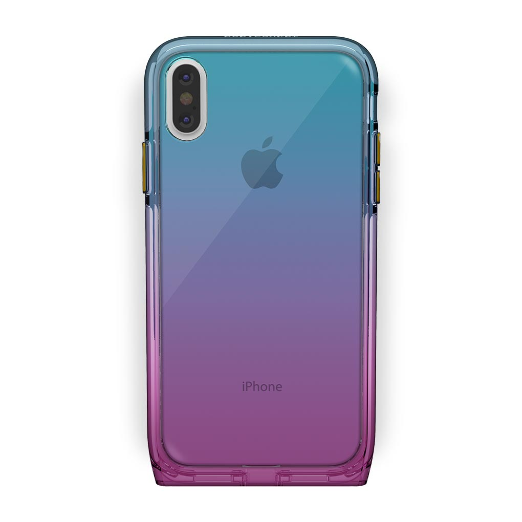 iPhone Xs Max White with Harmony Unicorn Clear Case