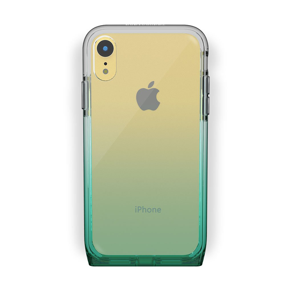 iPhone Xr Yellow with Harmony Lucky Clear Case