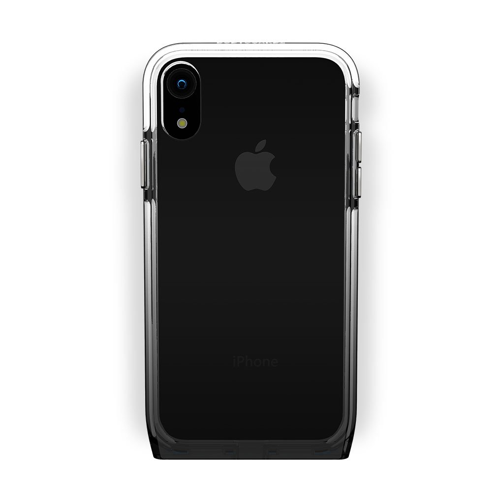 iPhone Xr Black with Shade Amethyst Clear Case