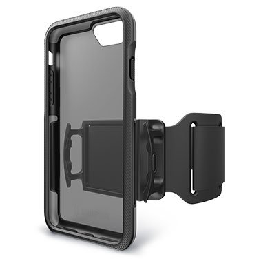 gray black Trainr pro workout phone cover