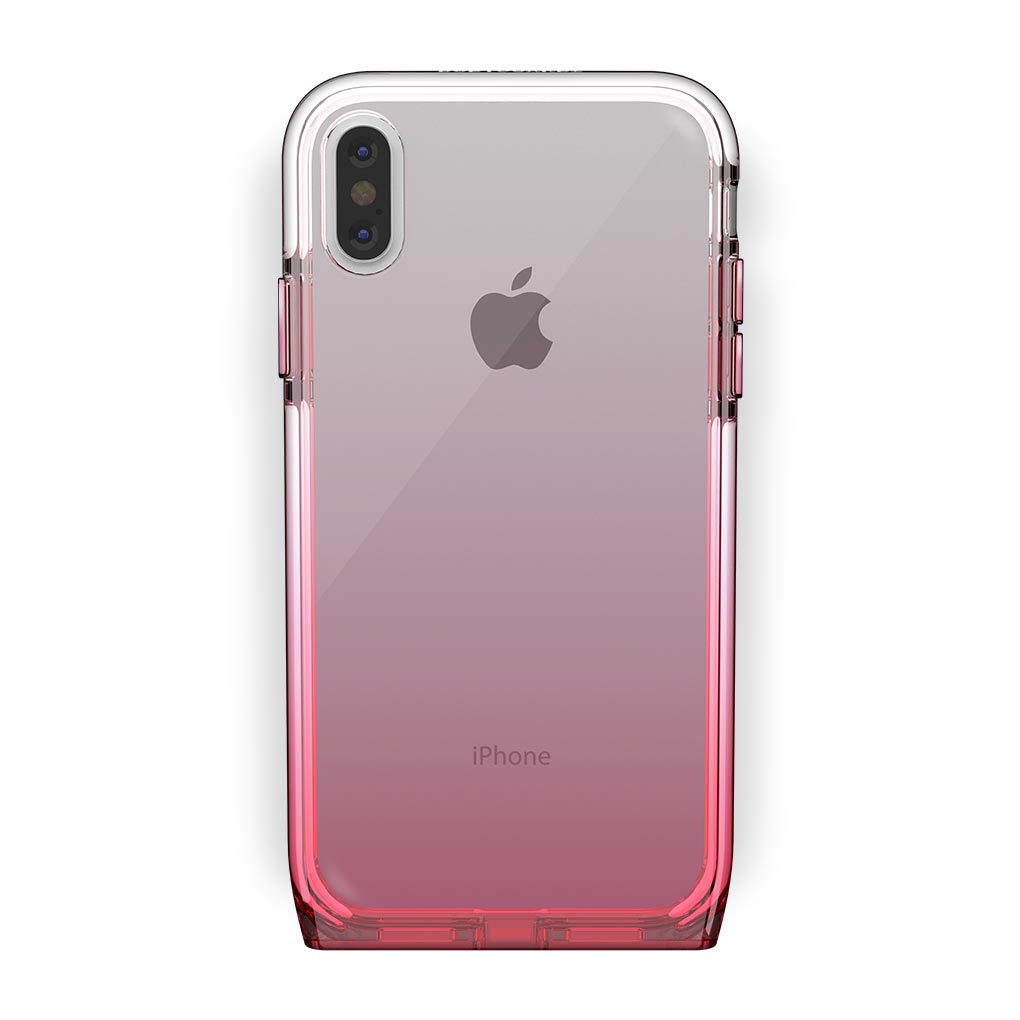 iPhone Xs Max White with Harmony Rose Quartz Clear Case