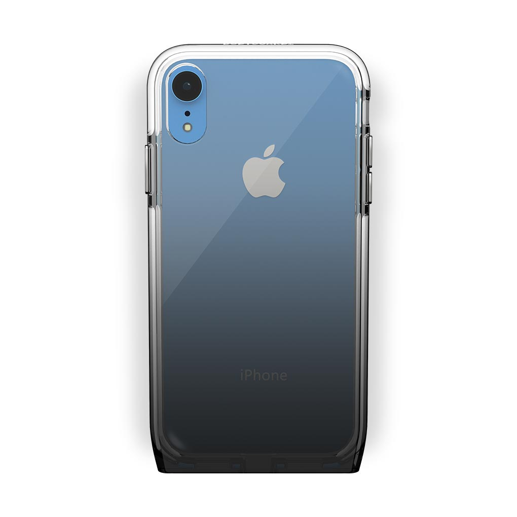 iPhone Xr Blue with Harmony Shade Clear Case