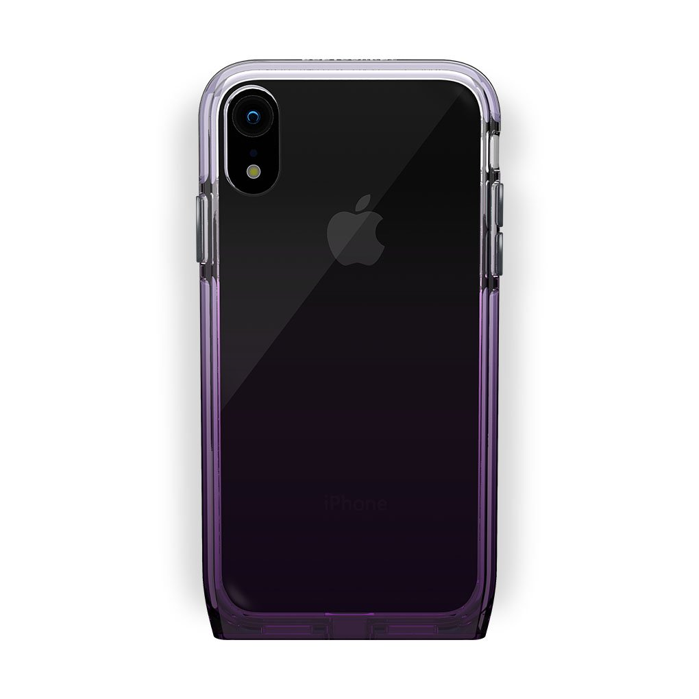 iPhone Xr Black with Harmony Amethyst Clear Case
