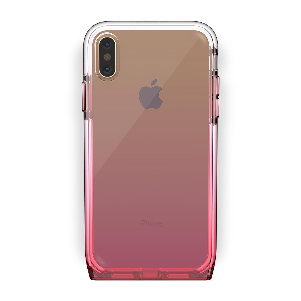 iPhone Xs Max Gold with Harmony Rose Quartz Clear Case