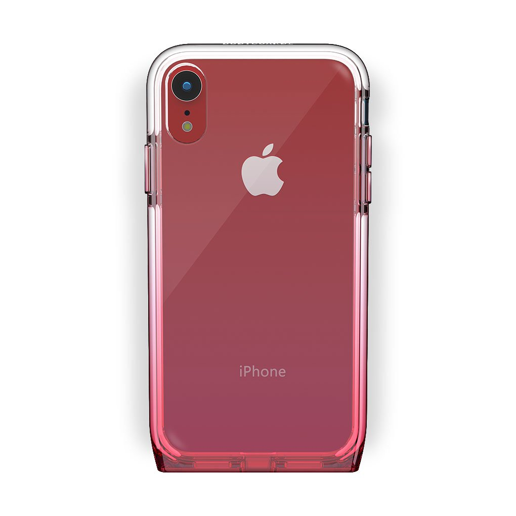 iPhone Xr Red with Harmony Rose Quartz Clear Case