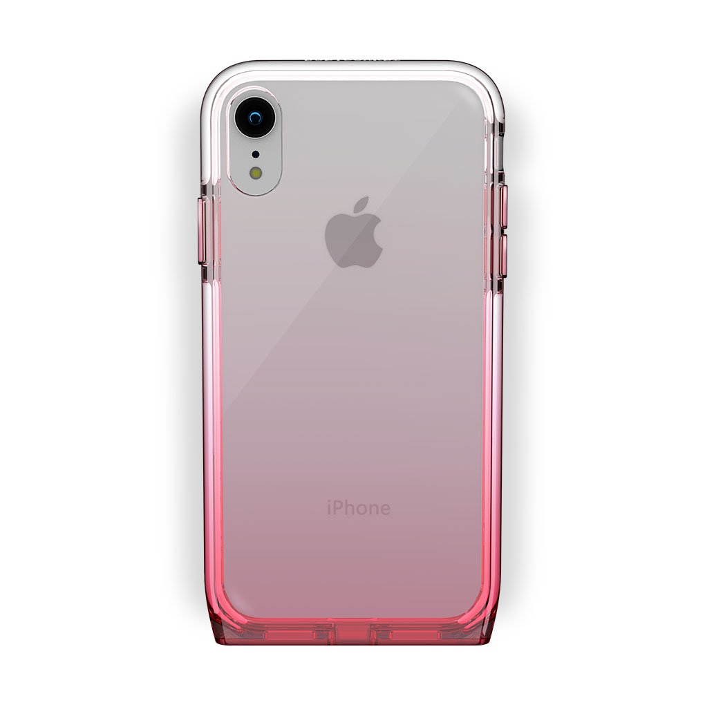 iPhone Xr White with Harmony Rose Quartz Clear Case