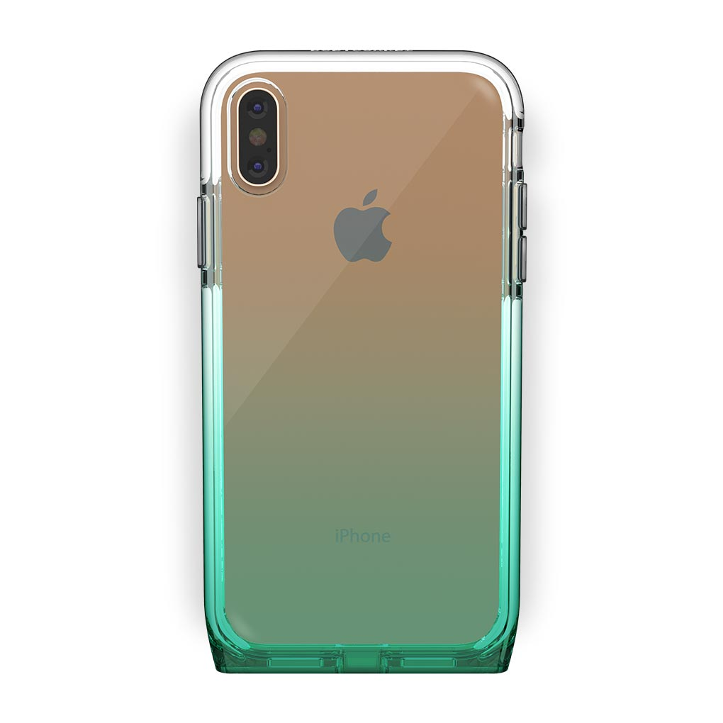 iPhone Xs Max Gold with Harmony Lucky Clear Case