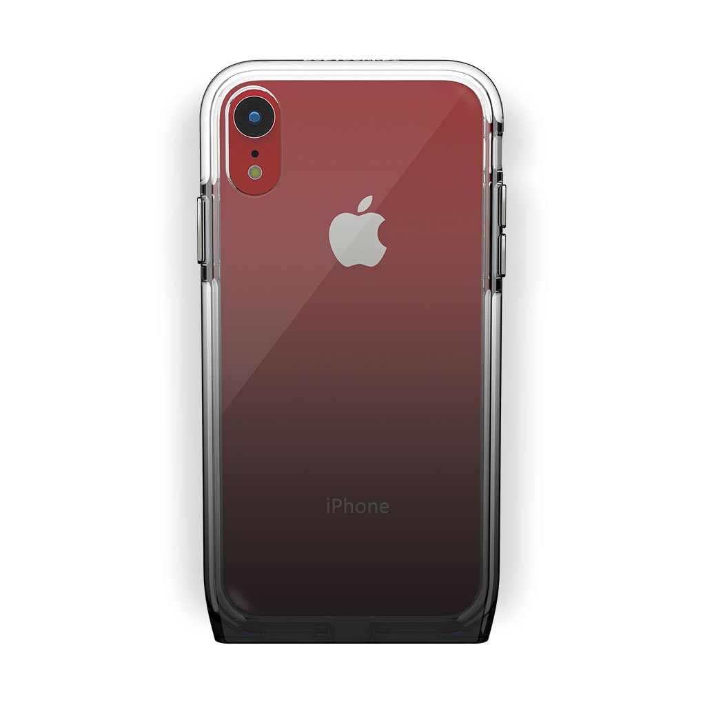 iPhone Xr Red with Harmony Shade Clear Case