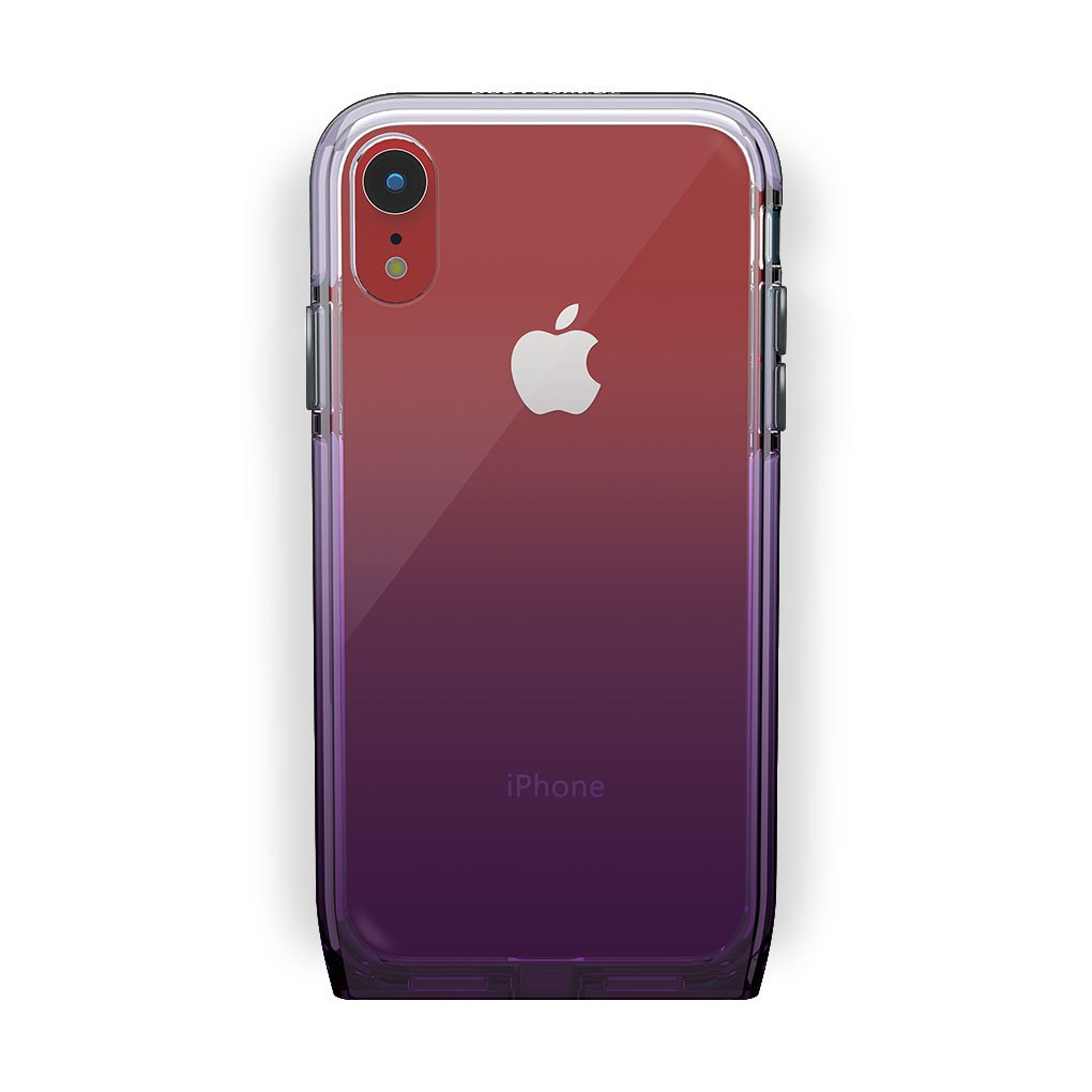 iPhone Xr Red with Harmony Amethyst Clear Case