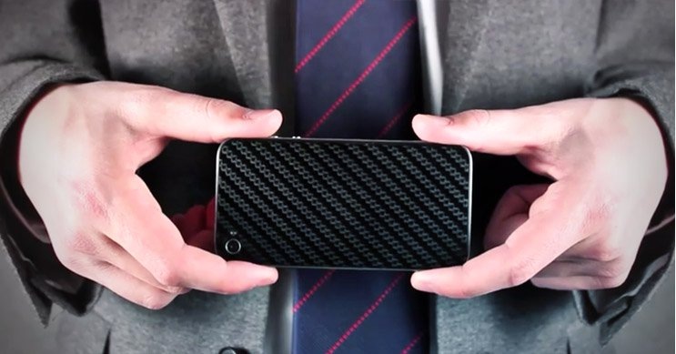 Carbon fiber phone skins installation overview video