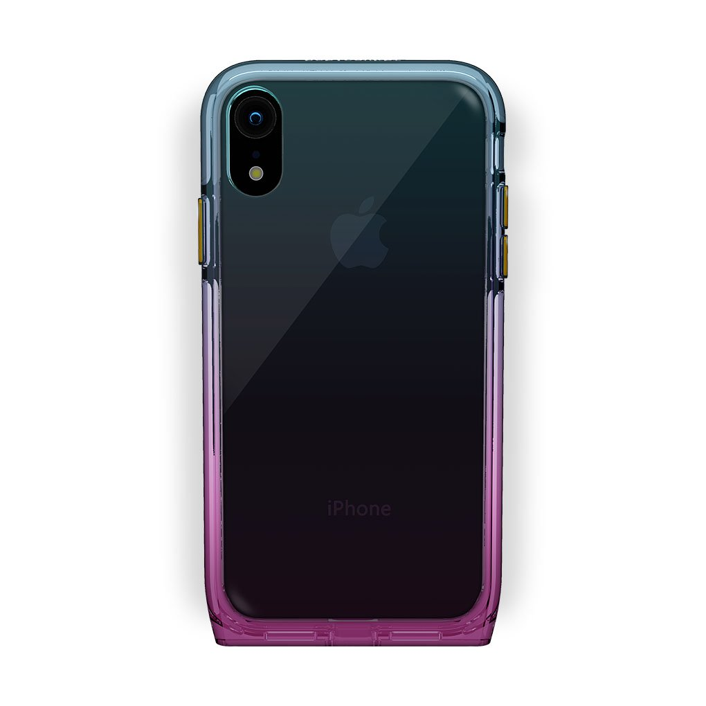 iPhone Xr Black with Harmony Unicorn Clear Case