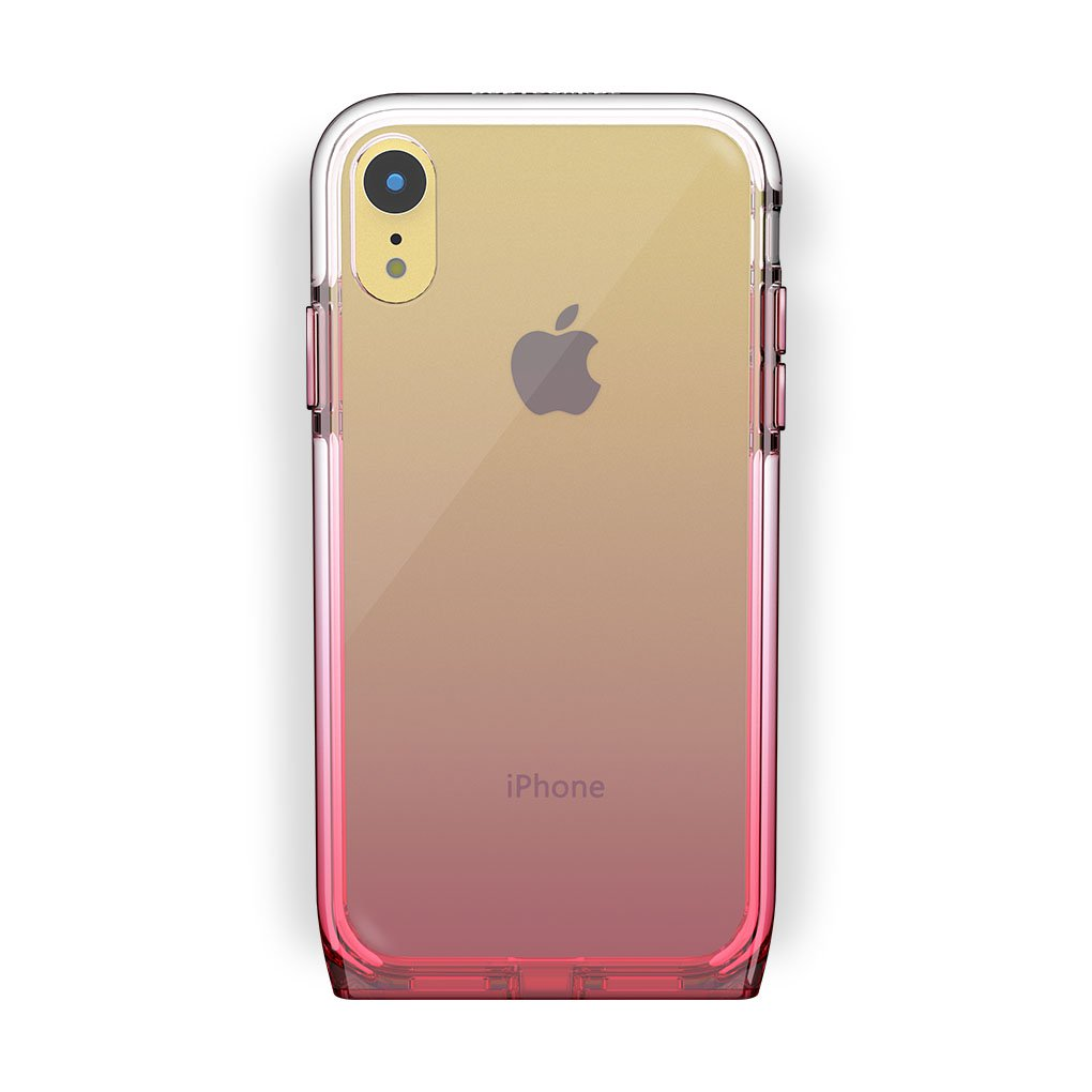iPhone Xr Yellow with Harmony Rose Quartz Clear Case