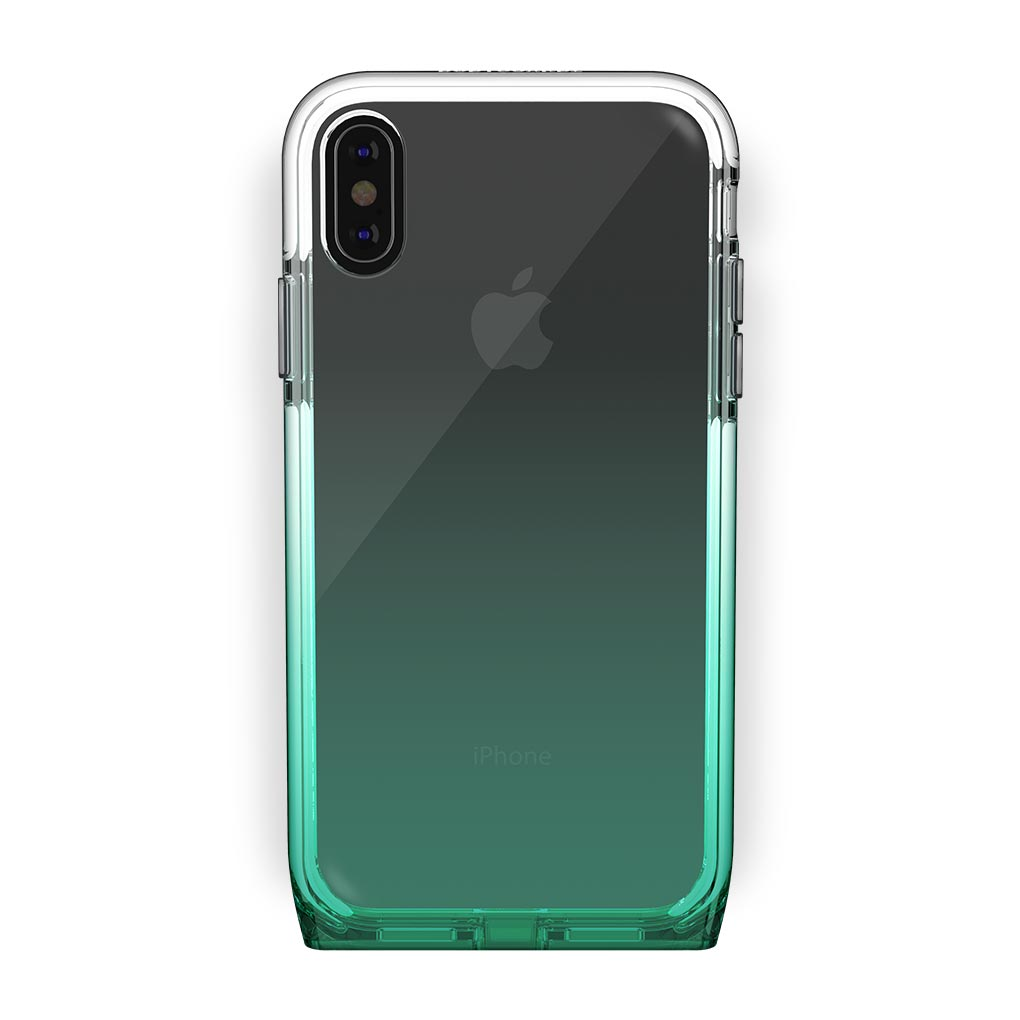 iPhone Xs Max Black with Harmony Lucky Clear Case
