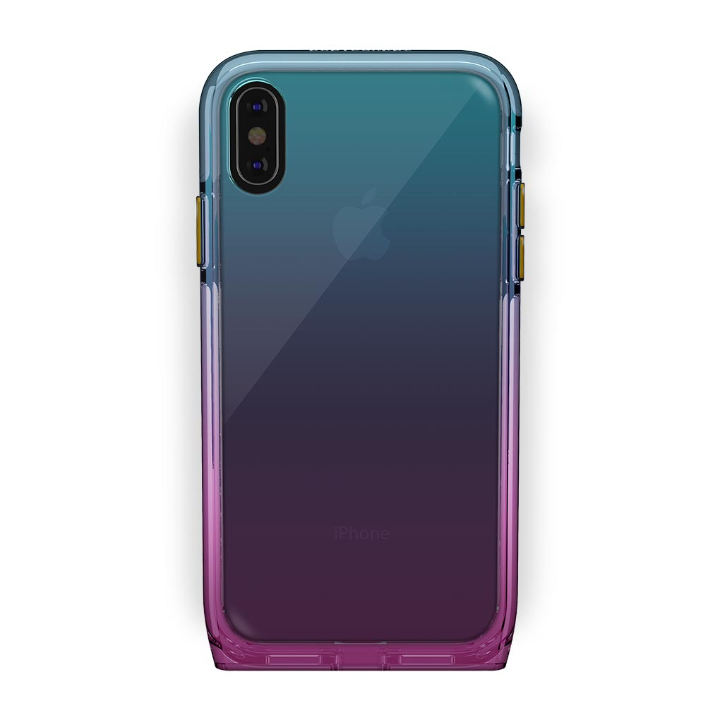 iPhone Xs Max Black with Harmony Unicorn Clear Case