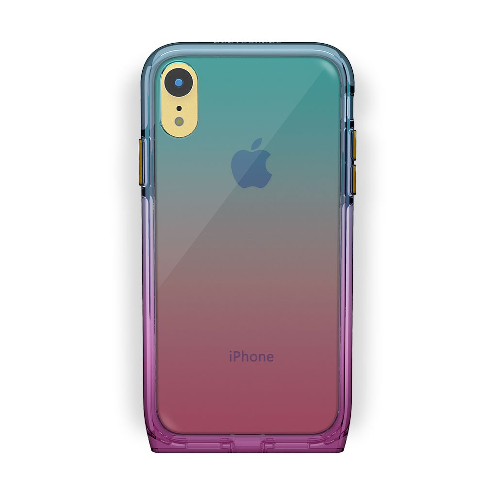 iPhone Xr Yellow with Harmony Unicorn Clear Case