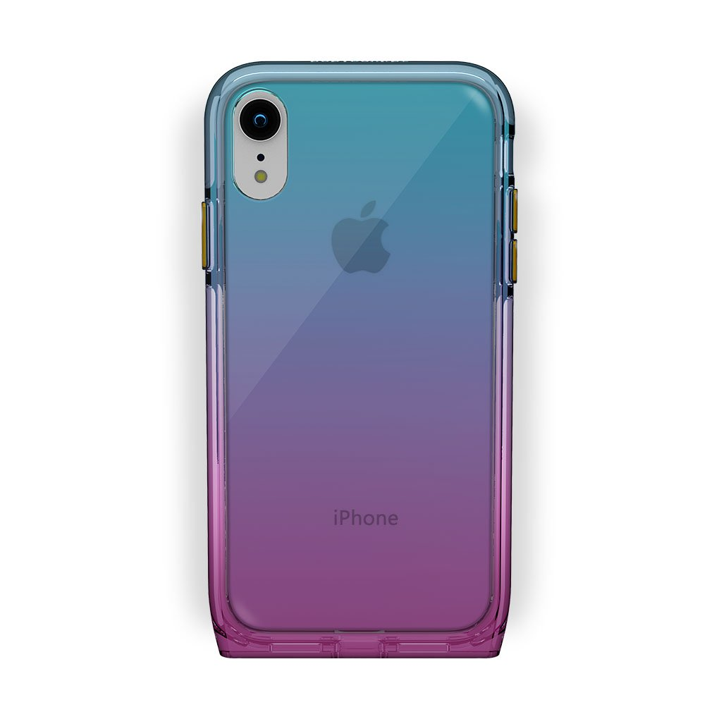 iPhone Xr White with Harmony Unicorn Clear Case