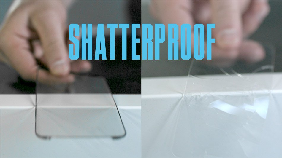 Shatterproof screen protector video
