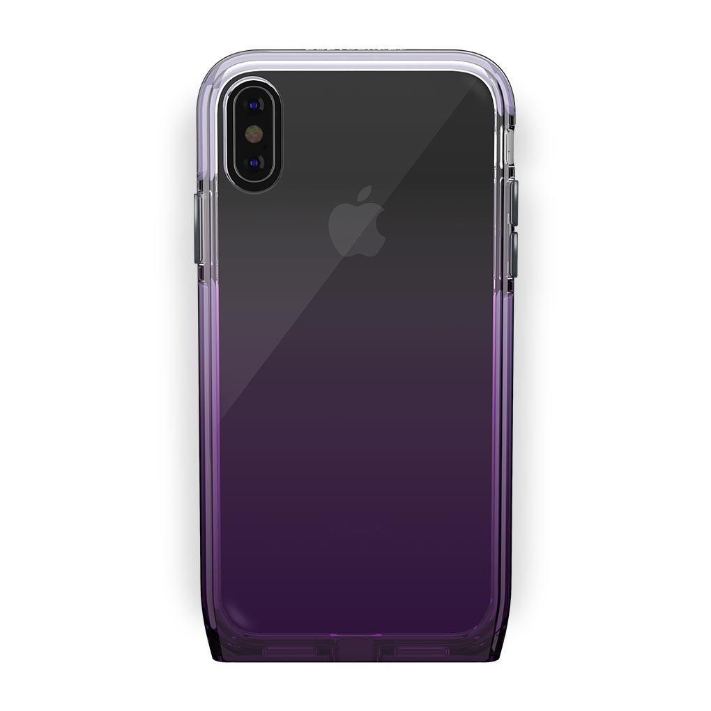 iPhone Xs Max Black with Harmony Amethyst Clear Case