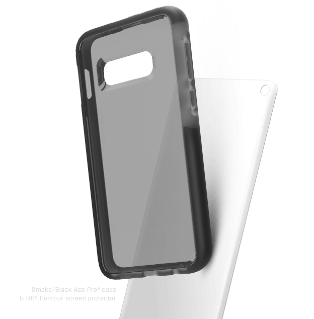 black clear case with impact screen protector for Galaxy S10e