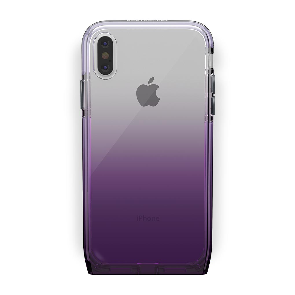 iPhone Xs Max White with Harmony Amethyst Clear Case