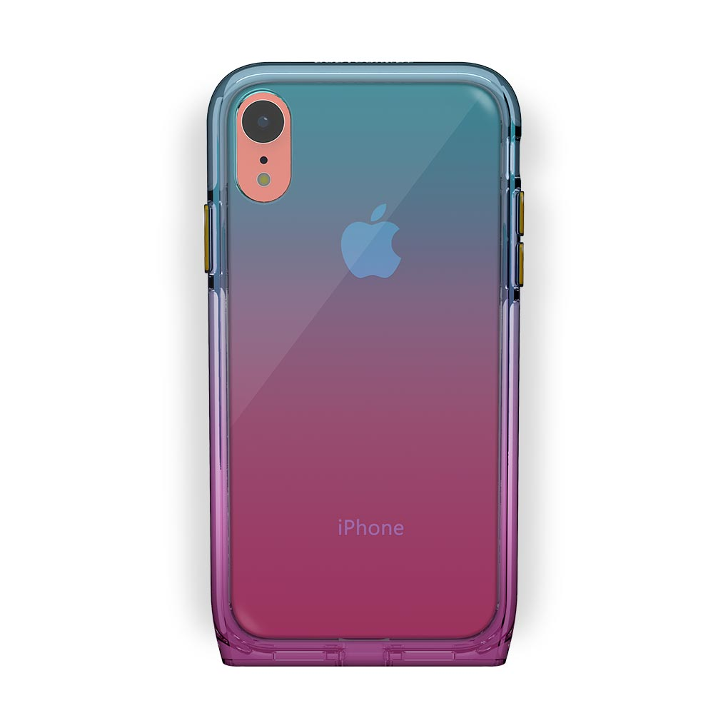 iPhone Xr Coral with Harmony Unicorn Clear Case