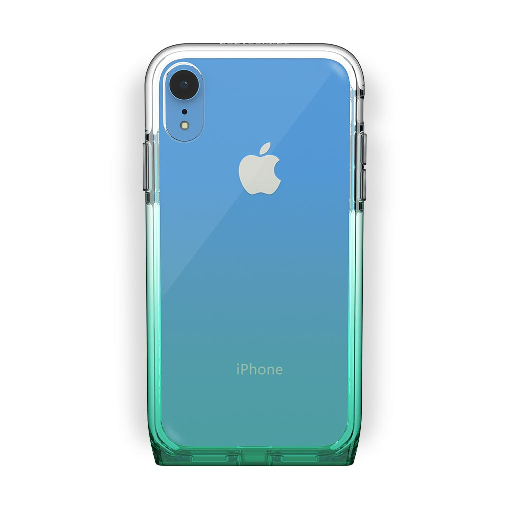 iPhone Xr Blue with Harmony Lucky Clear Case