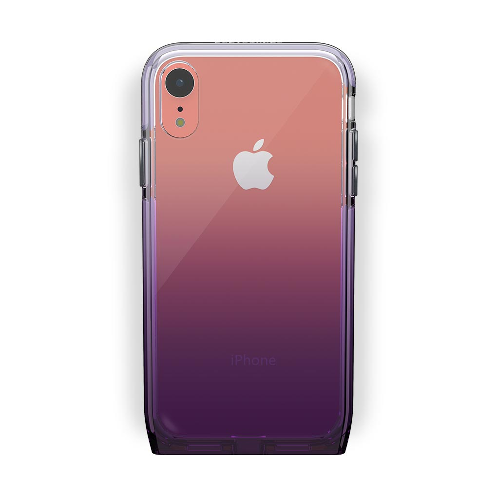iPhone Xr Coral with Harmony Amethyst Clear Case