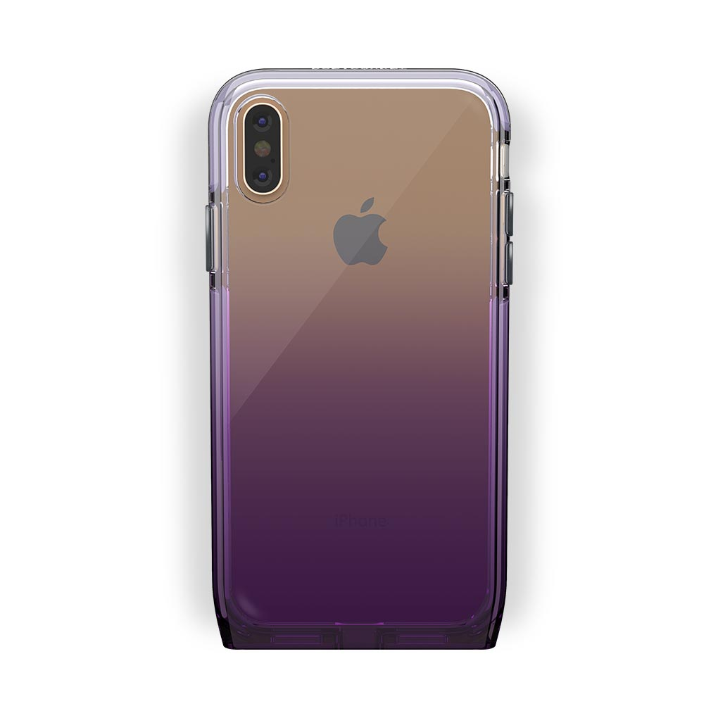 iPhone X/Xs Gold with Harmony Amethyst Clear Case
